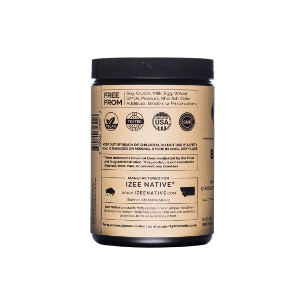 Photo of company info label on Beet Root Powder