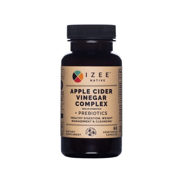 Photo of Apple Cider Vinegar supplement bottle from Izee Native, front view
