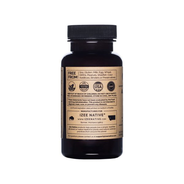 Photo of Apple Cider Vinegar supplement bottle from Izee Native, right side view