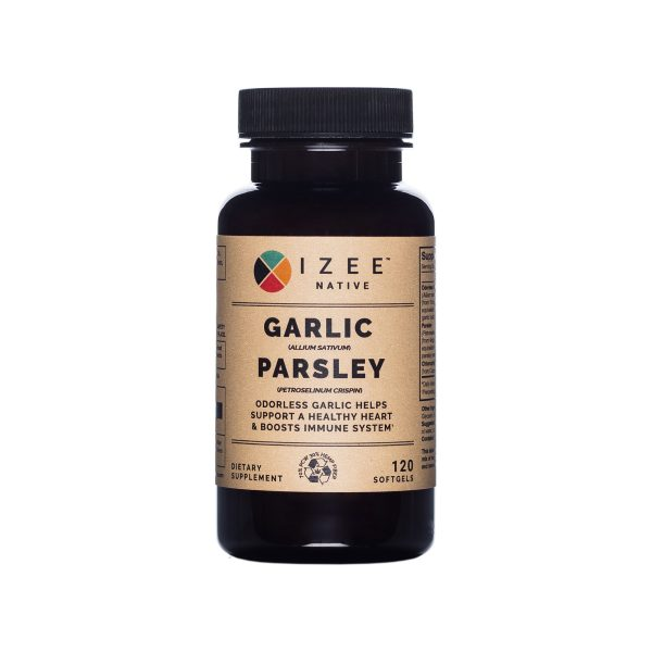Photo of the front panel of bottle for Garlic and Parsley Softgell capsules